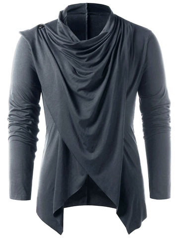 Men's Asymmetrical Overlap Asymmetrical Cardigan for Spring