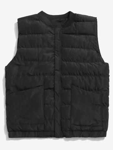 Men's Stand Collar Zip Fly Padded Vest