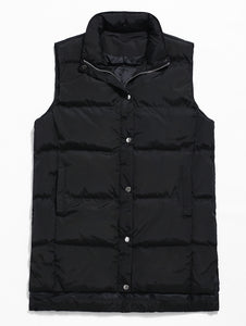 Men's Zip Fly Padded Solid Color Vest for Male