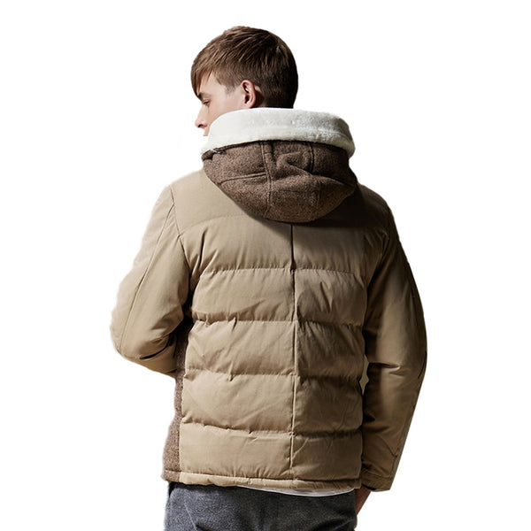 Fashion Thick Warm Men'S Hooded Coat Male Jacket Coat 4072