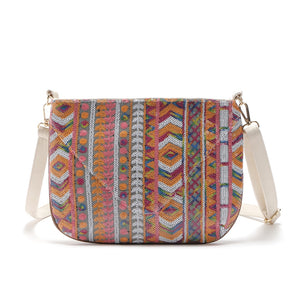 Portable Geometric Printed Women Crossbody Bags 2445
