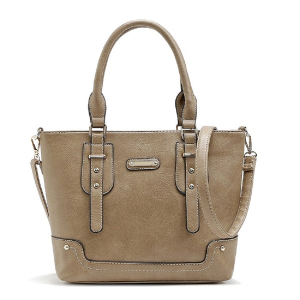 High Quality Pu Leahter Studded Totes Women Handbags 6309
