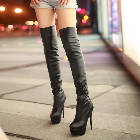 Sexy High Heels Platform Over the Knee Boots for Women 6647