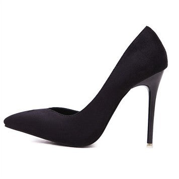 D'orsay High Heels Pointed Toe Pumps Stiletto Heel 9276