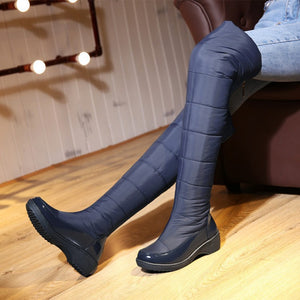 Down Over the Knee Boots Wedge Heels Shoes for Woman 5873