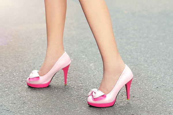 Bow Tie Platform Stiletto Heel High Heeled Shoes for Women 7718