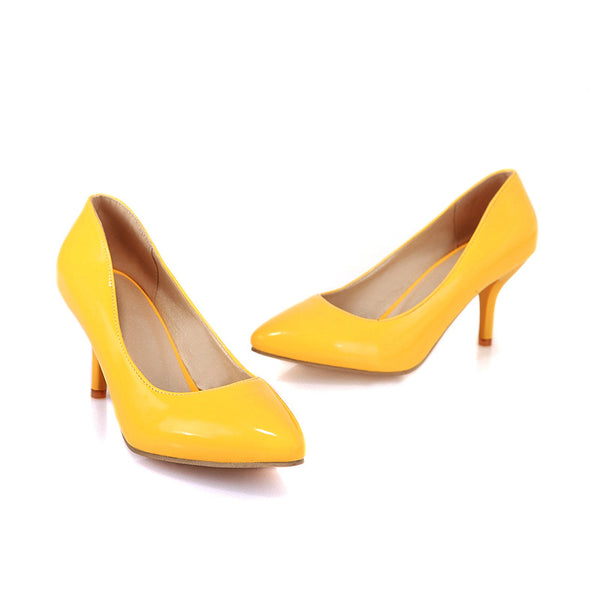Pointed Toe Bow Women Pumps Stiletto Heel Jelly Shoes 5399