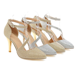 Pointed Toe High Heels Women Wedding Shoes 6113