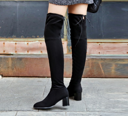 Slim High Heels Platform Tall Boots for Women 4992