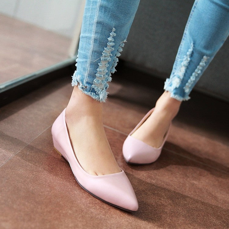 Pointed Toe Wedges Heels Shoes for