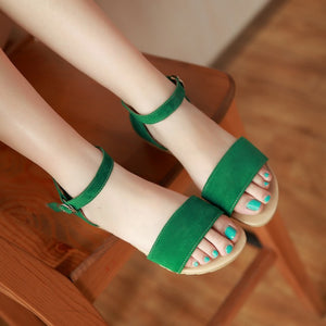 Ankle Straps Women Flat Sandals Shoes 2488