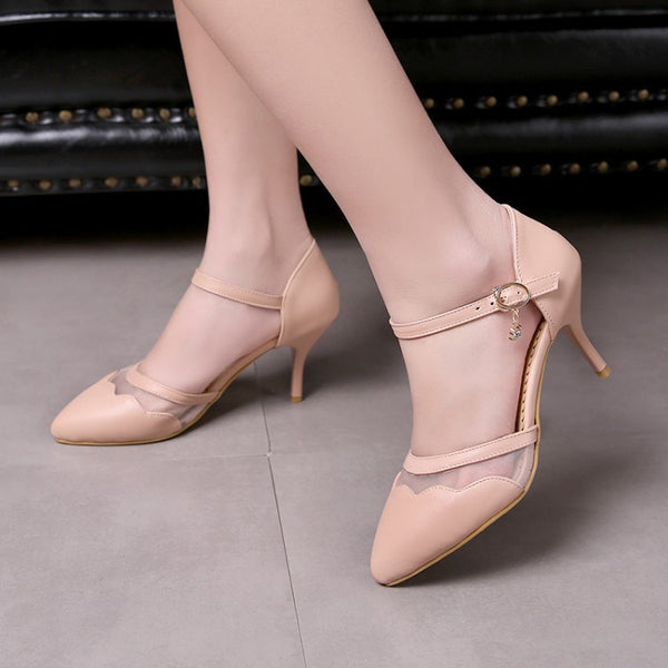 Women's Ankle Straps Sandals High Heels Shoes 5231