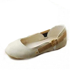 Velvet Buckle Flats Shoes for Woman MF9335