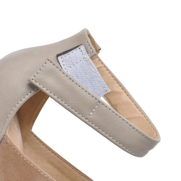 Women's Ankle Straps Chunky Sandals High Heels Shoes 8270