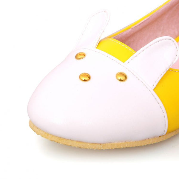 Rabbit Fur Women Flat Shoes 1326