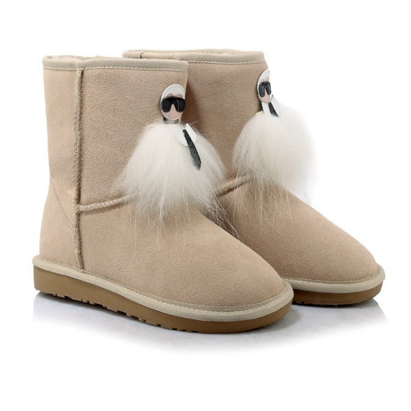 Tassel Genuine Leather Snow Boots 4012
