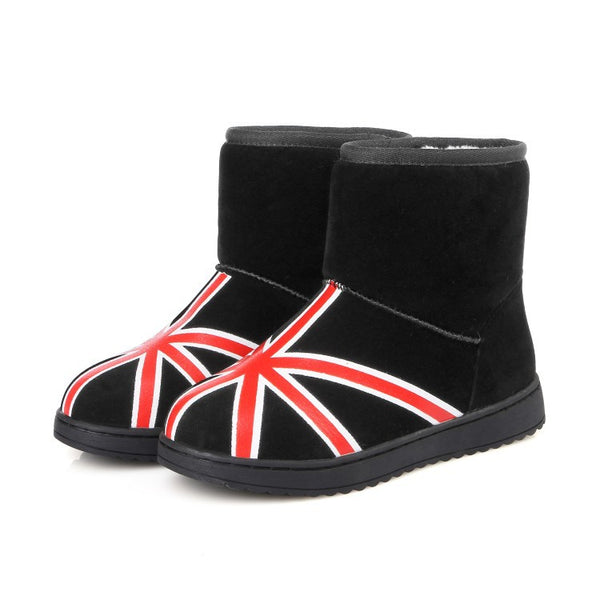 Warm Suede Flats Snow Boots for Women 7472