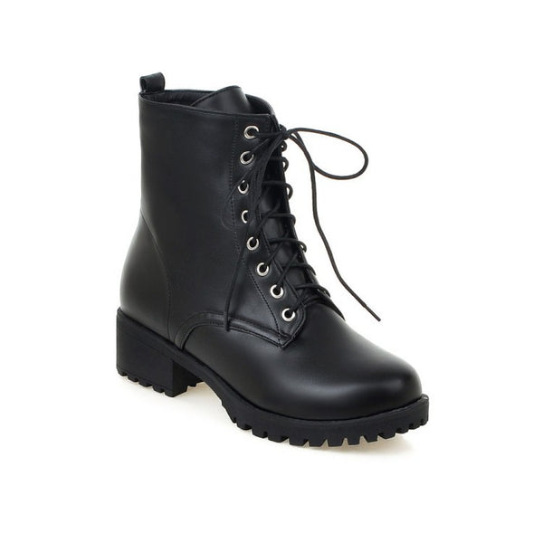 Lace Up Motorcycle Boots for Women 8770