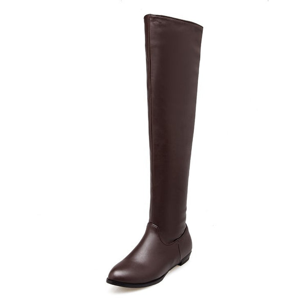 Pu Leather Over the Knee Boots for Women 7069