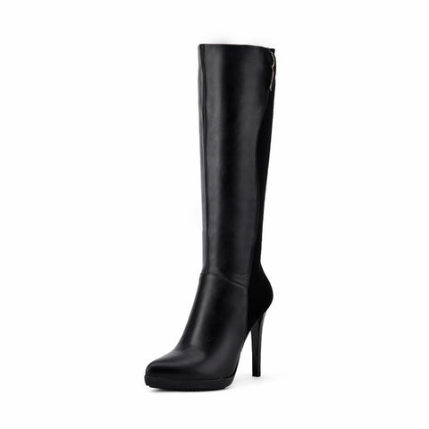Pointed Toe Stiletto Heel Knee High Boots Shoes for Woman 1842