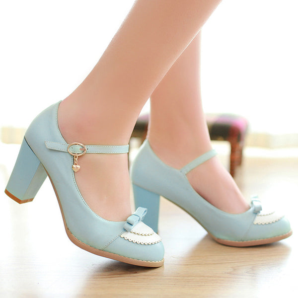 Ankle Straps Knot Women High Heels Shoes 6384