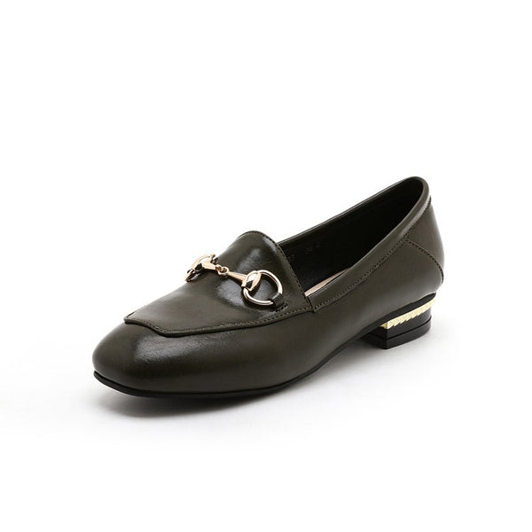Casual Metal Women Flat Loafers Shoes 4113