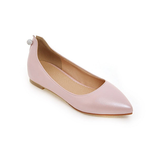 Pointed Toe Soft Leather Women Flat Shoes 4070