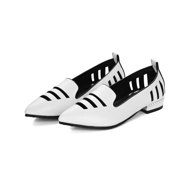 Pointed Toe Hollow Out Women Flat Shoes 2426