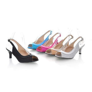 Women High Heel Slingbacks Sandals Shoes 3809