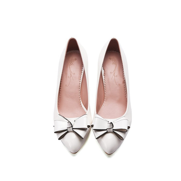 Pointed Toe Bow Pumps Women High Heels Shoes 4641