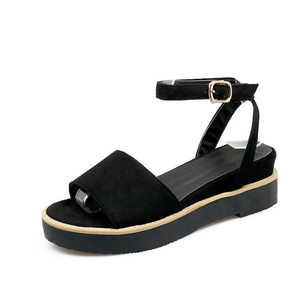 Suede Women Platform Sandals Shoes for Summer 2643