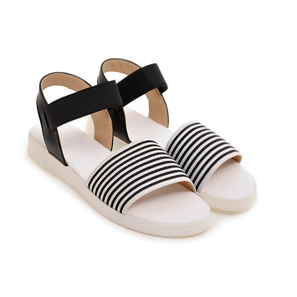Stripe Women Sandals Shoes for Summer 8228