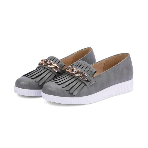Tassel Women Flat Platform Shoes 3085