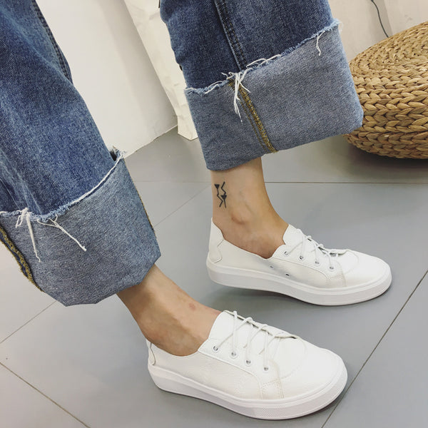 Breathable Casual Lace Up Women Sneaker Flats Shoes 6216