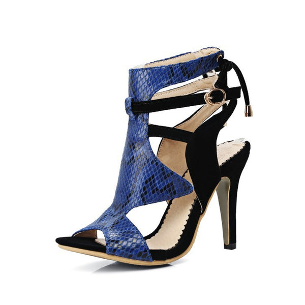 Women's Peep Toe Gladiator Sandals High Heels Shoes 7801