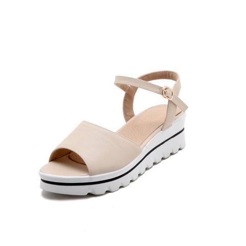 Open Toe Women Sandals Wedge Heels Shoes for Summer 8402