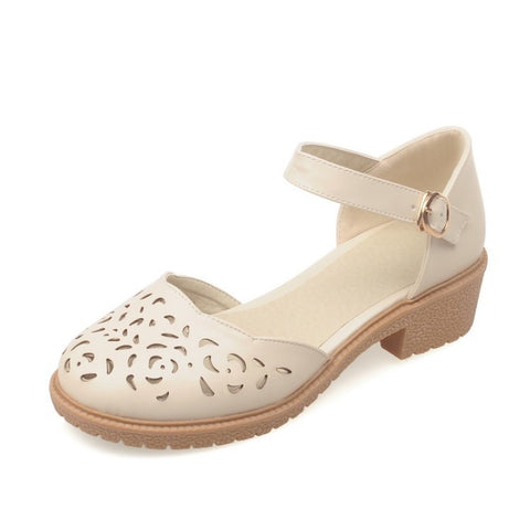 Women's Hollow Out Ankle Straps Sandals Dress Shoes for Summer 8158