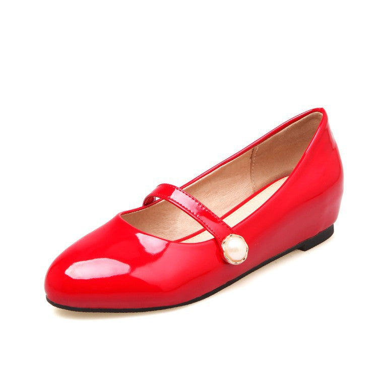 Patent Leather Women Mary Janes Flat Shoes 3403