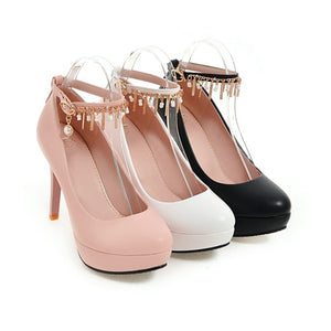 Ankle Strap Platform High Heel Stiletto Heels Shoes Woman 9751