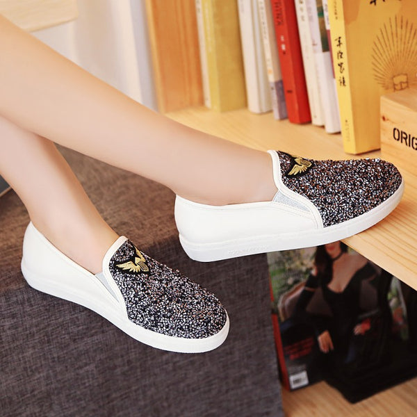 Mix Colors Slip on Flat Shoes for Women 8252