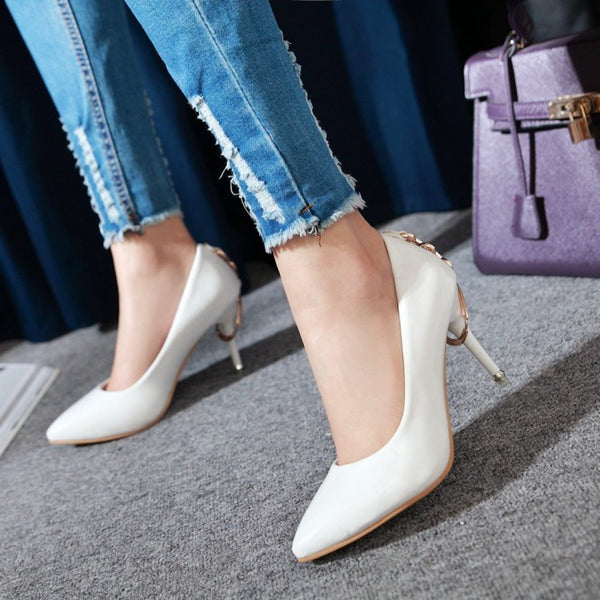 Pointed Toe High Heels Women Shoes Spring 8441
