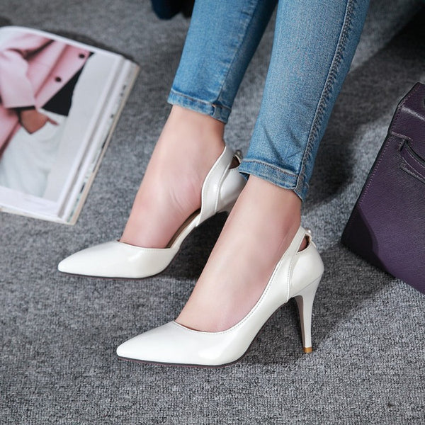 Pointed Toe Pumps Women Stiletto High Heels Dress Shoes 2080