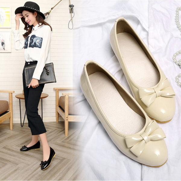 Bow Tie Wedges Heels Shoes for Women 4050