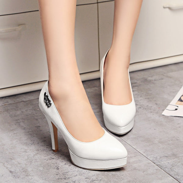 Pointed Toe Platform High Heels Women Shoes 9878
