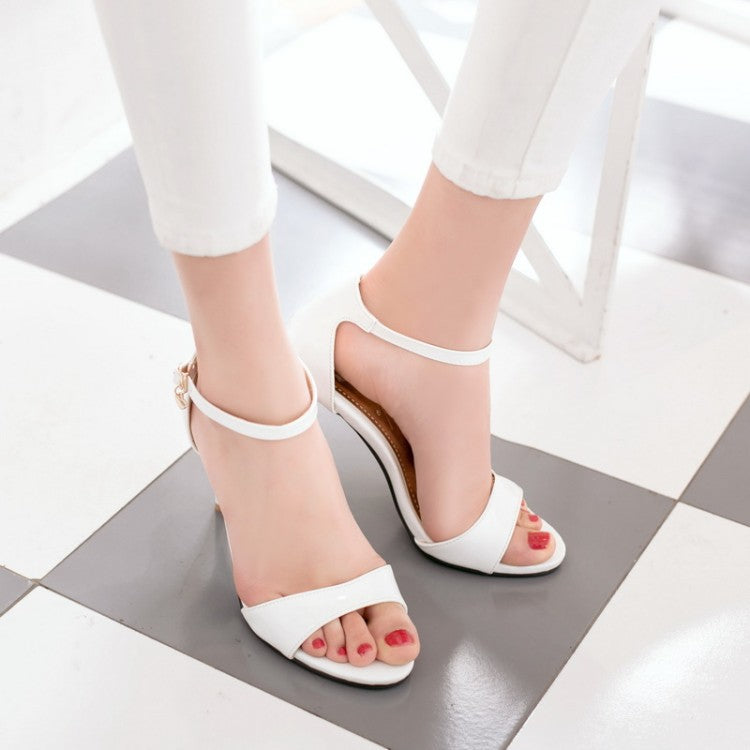 Ankle Strap Sandals High Heels Shoes Woman 3096