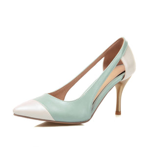 Pointed Toe Hollow Out Pumps Women Stiletto High Heels Shoes 2432