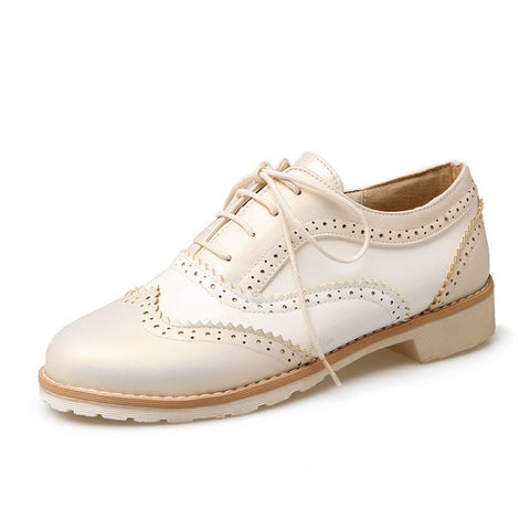 Lace Up Women Flat Oxford Shoes 1816