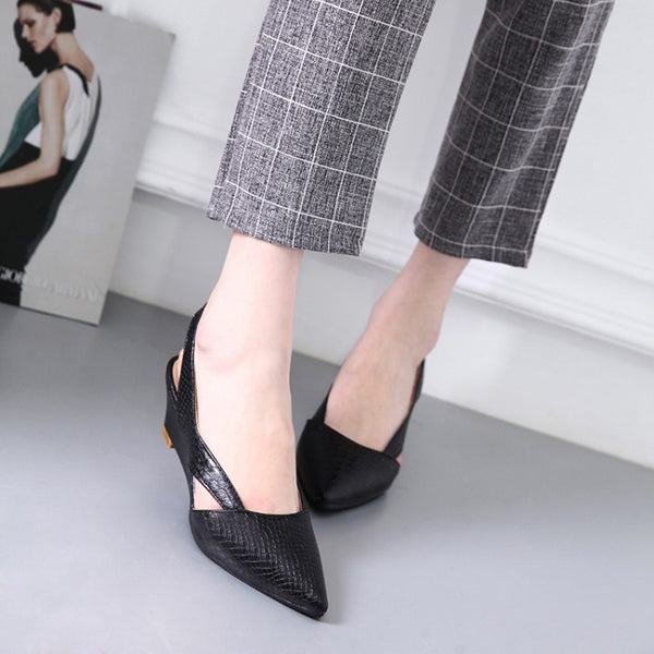 Pointed Toe Slingbacks Women Sandals Wedge Heels Shoes for Summer 1352