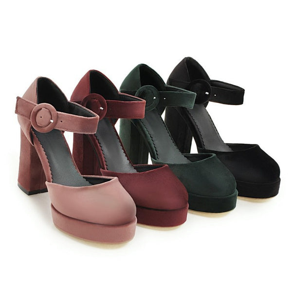 Ankle Strap Platform Sandals High Heels Shoes Woman 2813