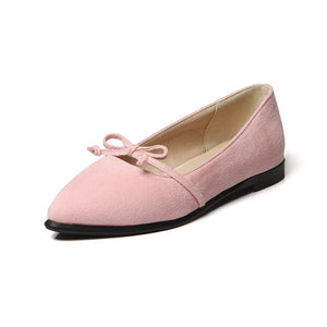 Pointed Toe Knot Mary Janes Women Flat Shoes 9711